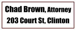 Attorney Chad Brown, Clinton AR
