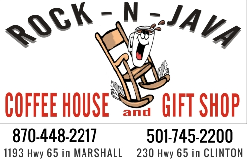 Rock N Java Ozarks Coffee Cafe Marshall Clinton AR